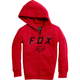 Youth Flame Red Legacy Moth Zip Hoody