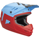 Matte Powder Blue/Red Youth Sector Level Helmet