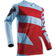 Powder Blue/Red Pulse Level Jersey