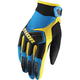 Youth Blue/Black/Yellow Spectrum Gloves