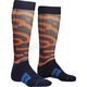Navy/Orange/Lime Moto Sub Rampant Socks