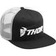 Black/White Trucker Snapback Hat - 2501-2764