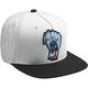 White/Black Wide Open Snapback Hat - 2501-2766