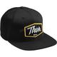 Black Script Snapback Hat - 2501-2767
