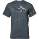 Mens Heather Navy Skid Tee Shirt