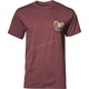 Mens Burgundy Heather Delicious Pocket Tee Shirt