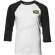Mens White/Black Establish 3/4 Sleeve Tee Shirt