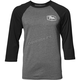Mens Charcoal/Black Establish 3/4 Sleeve Tee Shirt