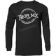 Mens Black  Whiskey Thermal Long Sleeve Shirt