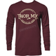 Mens Maroon Whiskey Thermal Long Sleeve Shirt