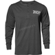 Mens Gray Corp Henley Long Sleeve Shirt