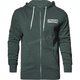 Alpine Green Script Zip-Up Hooded Sweatshirt