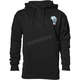 Black Wide Open Pullover Hooded Sweatshirt
