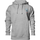 Gray Heather Wide Open Pullover Hooded Sweatshirt
