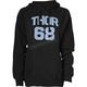 Womens Black Team Pullover Hooded Sweatshirt