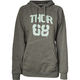 Womens Gray Team Pullover Hooded Sweatshirt