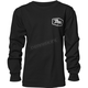 Boys Black Script Long Sleeve T-Shirt