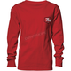 Boys Red Script Long Sleeve T-Shirt