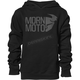 Boys Black Modern Moto Pullover Hooded Sweatshirt