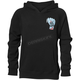 Boys Black Wide Open Pullover Hooded Sweatshirt
