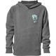 Boys Gray Wide Open Pullover Hooded Sweatshirt