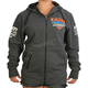 Charcoal Heather/Orange Race Division Zip Hoody
