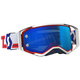 Red/White/Blue Prospect Goggles W/Electric Blue Chrome Works Lens - 262589-1005278