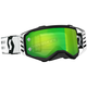 Black/White Prospect Goggles w/Green Chrome Works Lens - 262589-1007279