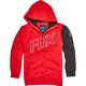 Youth Dark Red Moto Vation  Zip Hoody