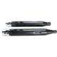 Black 4 in. Slip-On Mufflers w/Chrome Merge End Caps - 500-0107C-MERGE