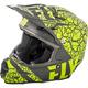 Matte Gray/Hi-Vis F2 Carbon Fracture Helmet