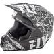 Matte Black/White F2 Carbon Fracture Helmet