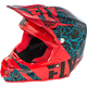 Black/Red/Lite Blue F2 Carbon Fracture Helmet