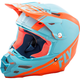 Matte Lite Blue/Orange F2 Carbon Rewire Helmet