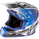 Black/Blue Toxin MIPS Resin Helmet