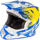 White/Yellow/Blue Toxin MIPS Resin Helmet