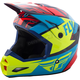 Youth Red/Blue/Hi-Vis Elite Guild Helmet