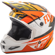 Youth Orange/White/Black Elite Guild Helmet