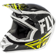 Youth Black/White Kinetic Burnish Helmet