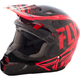 Youth Black/Red/Orange Kinetic Burnish Helmet