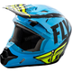 Youth Blue/Black Kinetic Burnish Helmet