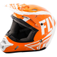 Youth Orange/White Kinetic Burnish Helmet