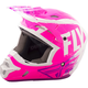 Youth Neon Pink/White/ Kinetic Burnish Helmet