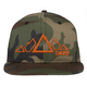 Orange Camo 5 Peak Snapback Hat - 509-HAT-5POC