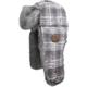 White Plaid Trapper Fur Hat - 509-HAT-FTW
