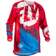 Youth Red/Blue Kinetic Outlaw Jersey