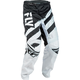 Youth Black/White F-16 Pants