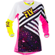 Youth Girl's Neon Pink/Hi-Vis Kinetic Jersey