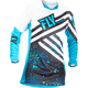 Youth Girl's Blue/Black Kinetic Jersey