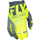 Youth Gray/Hi-Vis Kinetic Gloves